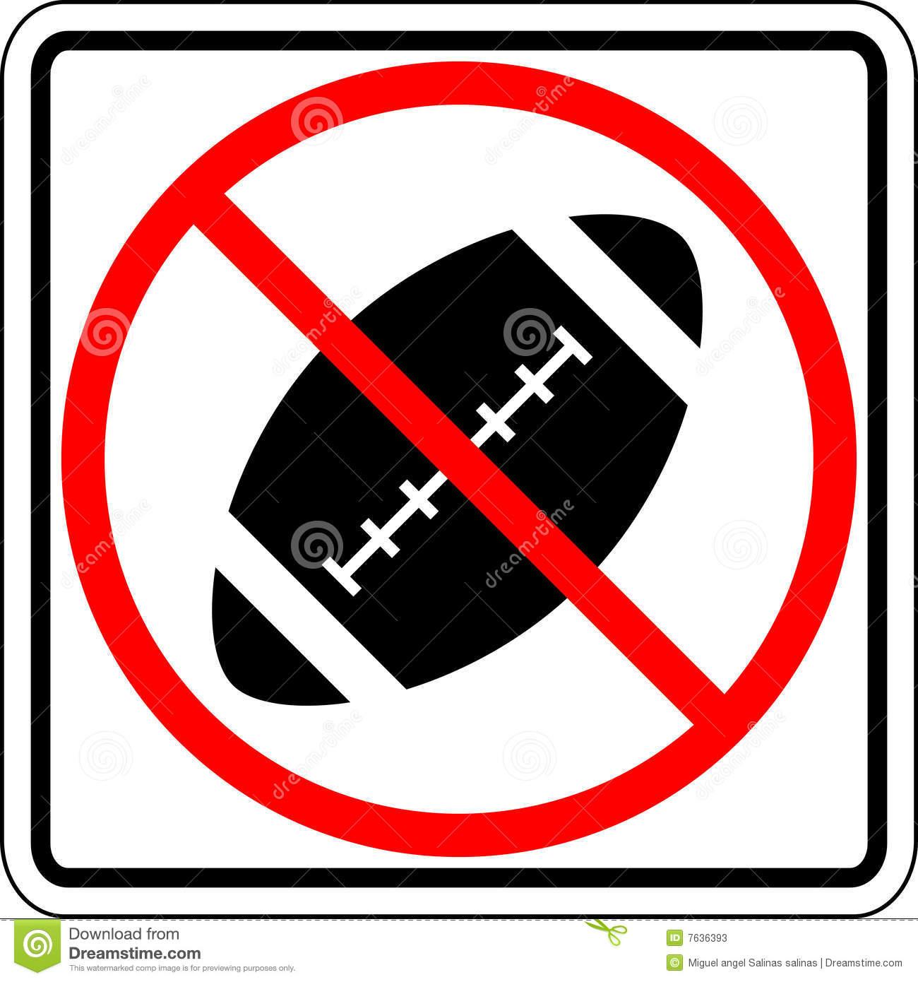 No Football Clipart.