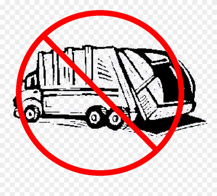 No Garbage Truck Sign Clipart (#2163218).