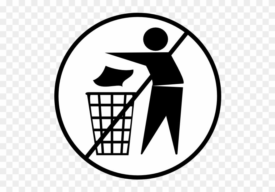 No Trash Clipart.