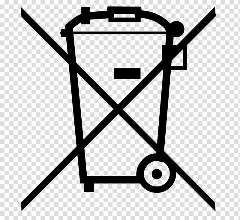No garbage can symbol, Waste Electrical and Electronic.