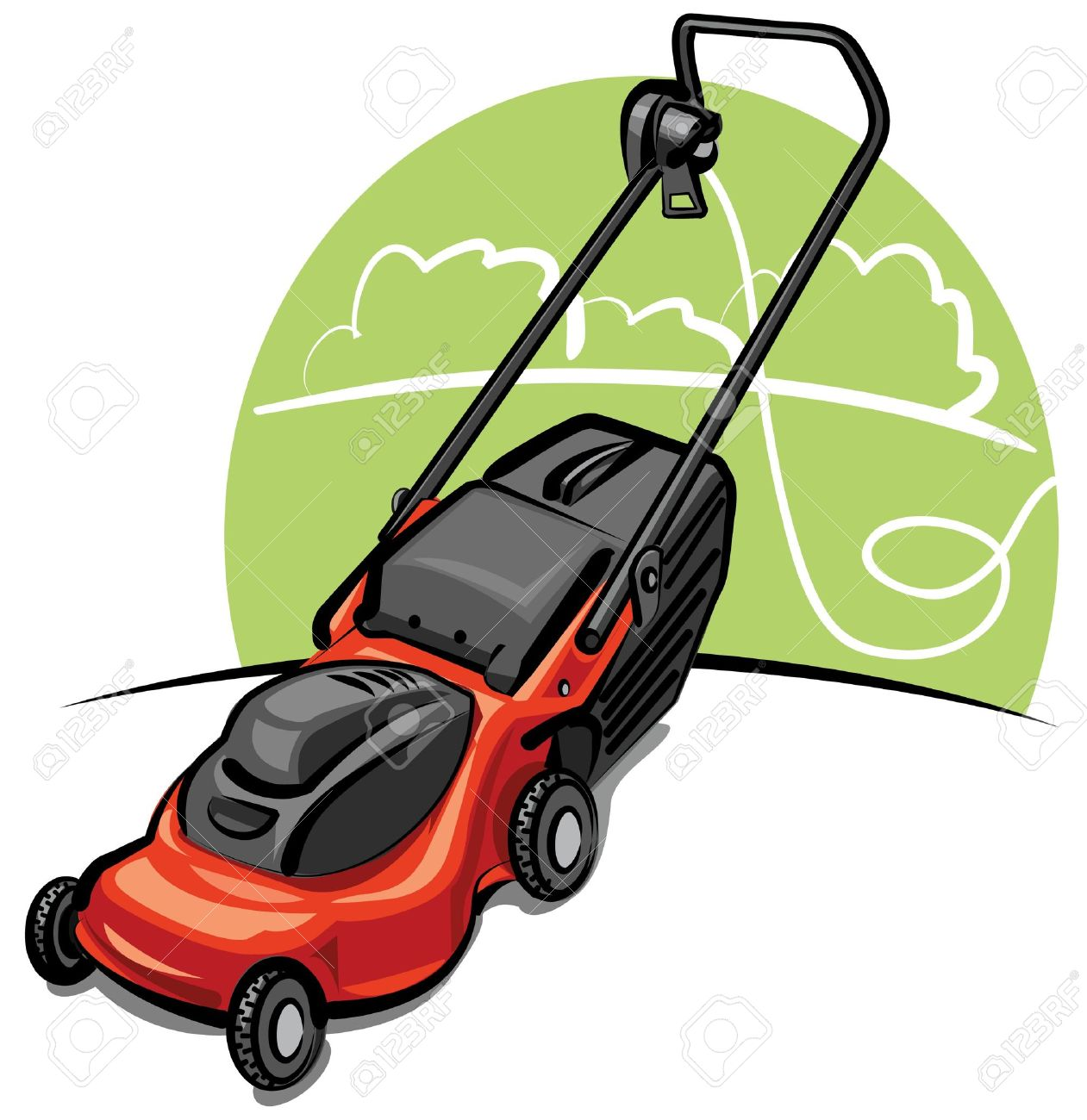Lawn Mower Clipart No Background.
