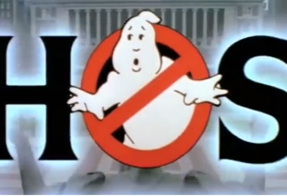 Ghostbusters and the \'no ghost\' logo.