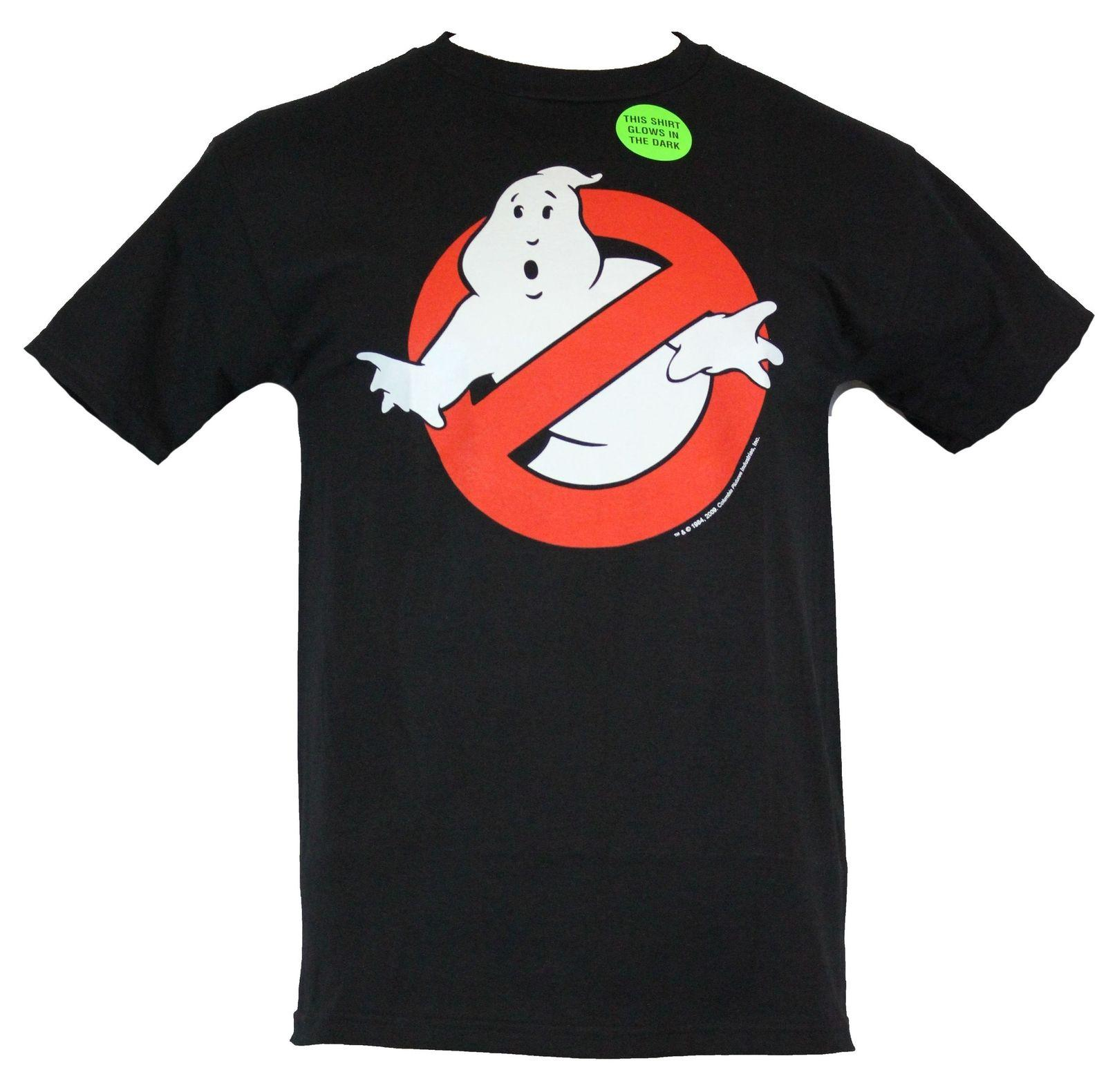 Ghostbusters Mens T Shirt Classic No Ghost Logo Glowing Image Shirts  Designer Designer White T Shirts From Cozyroam, &Price;.