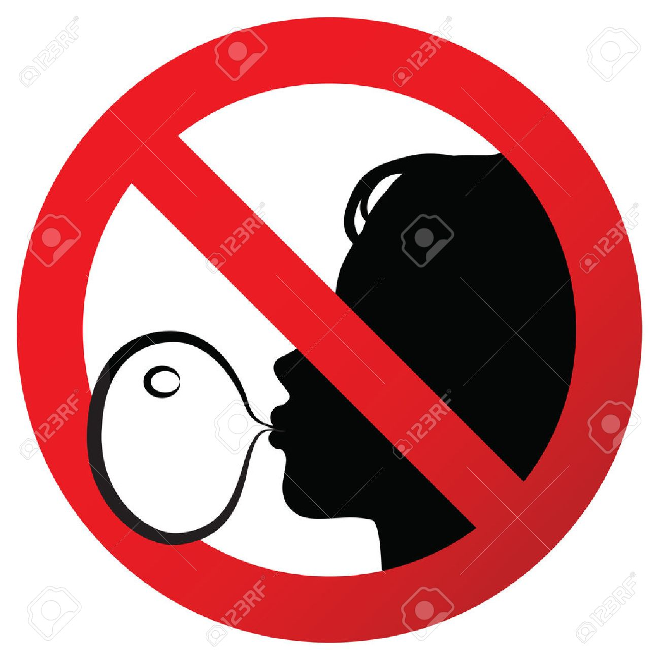 No chewing gum prohibited symbol sign on paper sticker, vector...