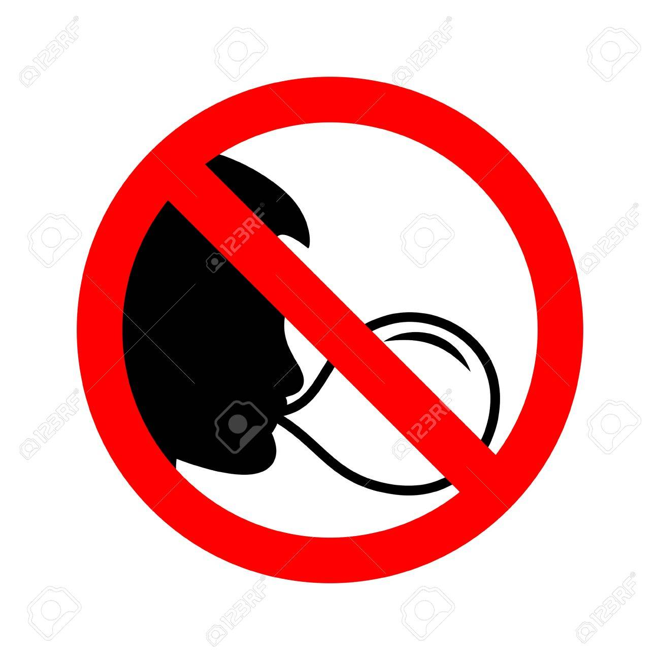 No chewing gum sign vector illustration..