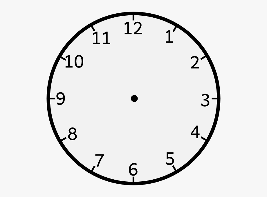 Clock Without Arms Clip Art.