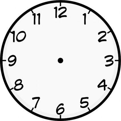 Clock Face NO Hand Vector.