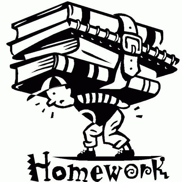 1945 Homework free clipart.
