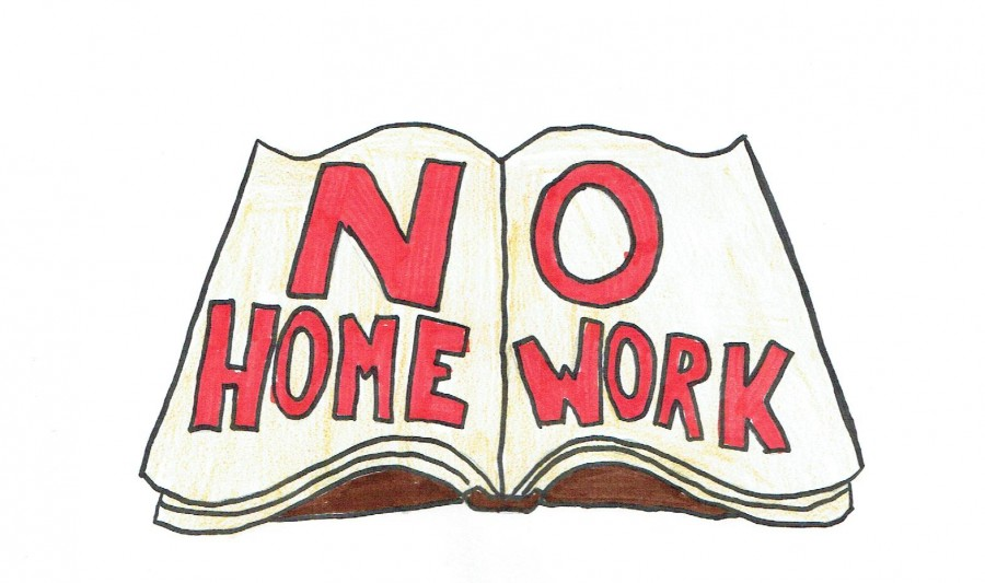 No Homework Clipart.