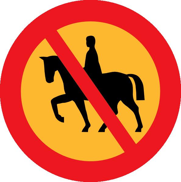 No Horse Riding Sign Clip Art at Clker.com.