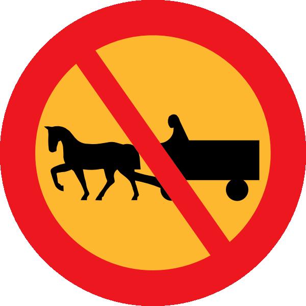 No Horse And Carts Sign Clip Art at Clker.com.