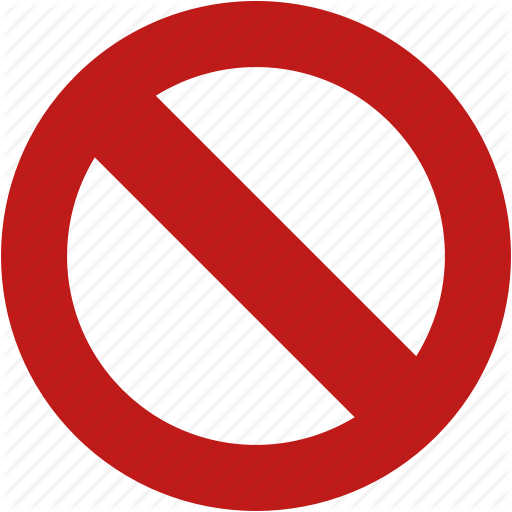 No entry, stop, forbidden icon #10070.