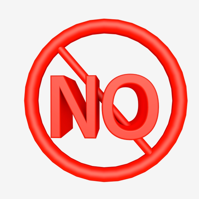 Red No Icon, Red Icon, Firmly Say No, No PNG Transparent.