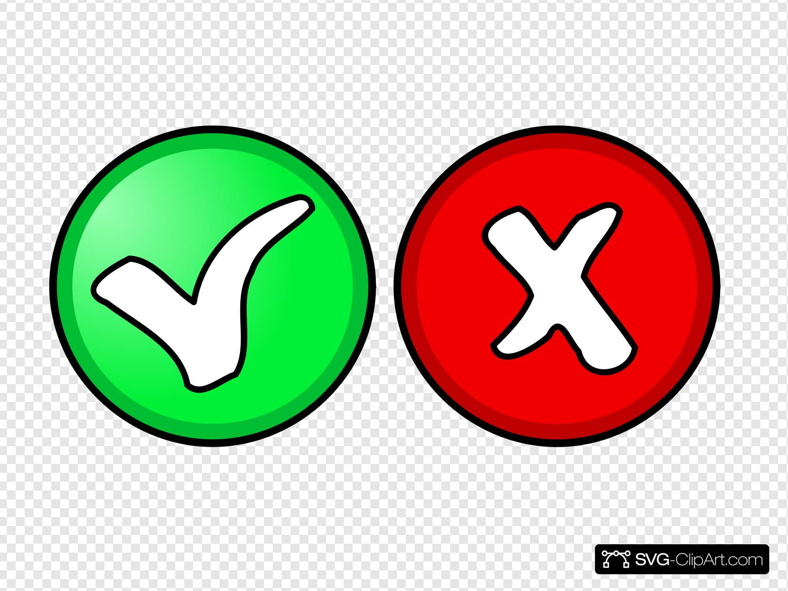 Yes And No Button Clip art, Icon and SVG.