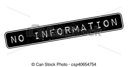 Clipart Vector of No Information rubber stamp on white. Print.