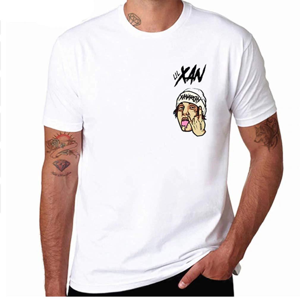 Amazon.com: Tee Shirt Xanarchy Lil Xan Cool Logo Hat Hip Hop.