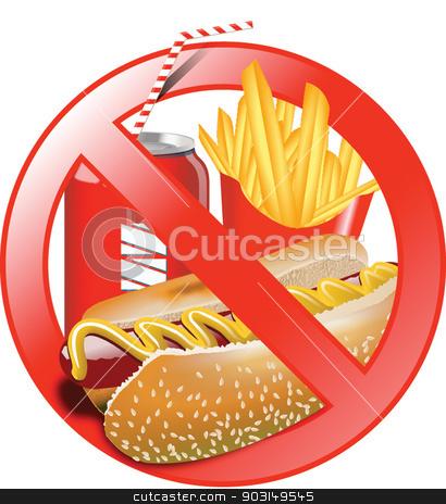 NO JUNK FOOD stock vector.
