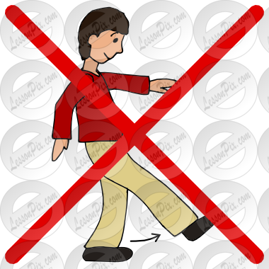 Download not run in the classroom clipart Clip art.