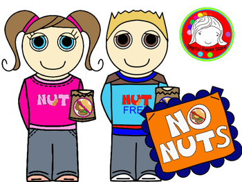 No NUTS! Signs, Kids, and More Clipart (Personal & Commercial Use).