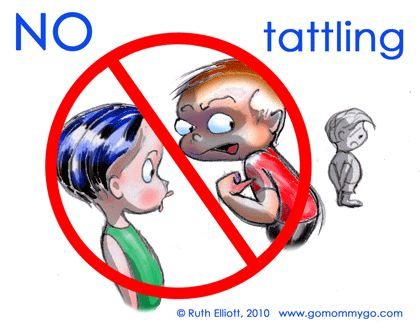 tattling kids clipart.