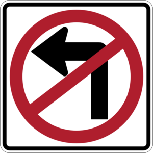 No Left Turn Clip Art at Clker.com.