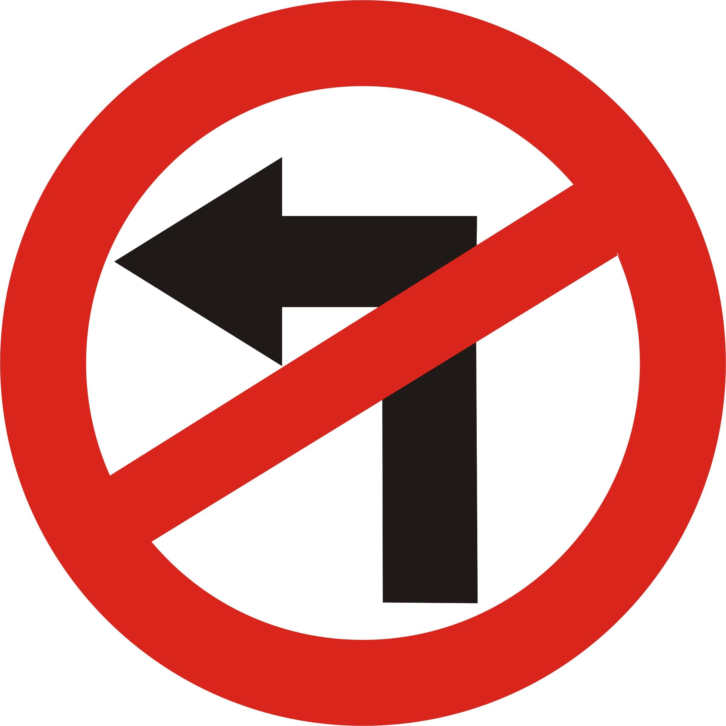 Road Sign No Left Turn.jpg.