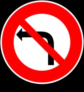 No Left Turn Sign Clip Art at Clker.com.