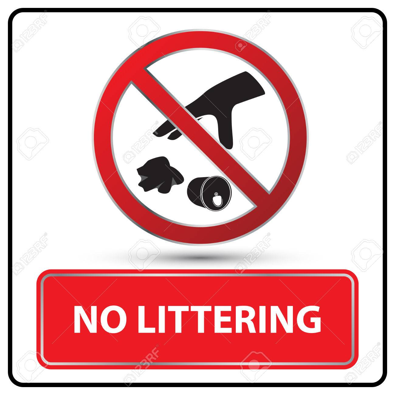 no littering sign vector illustration.