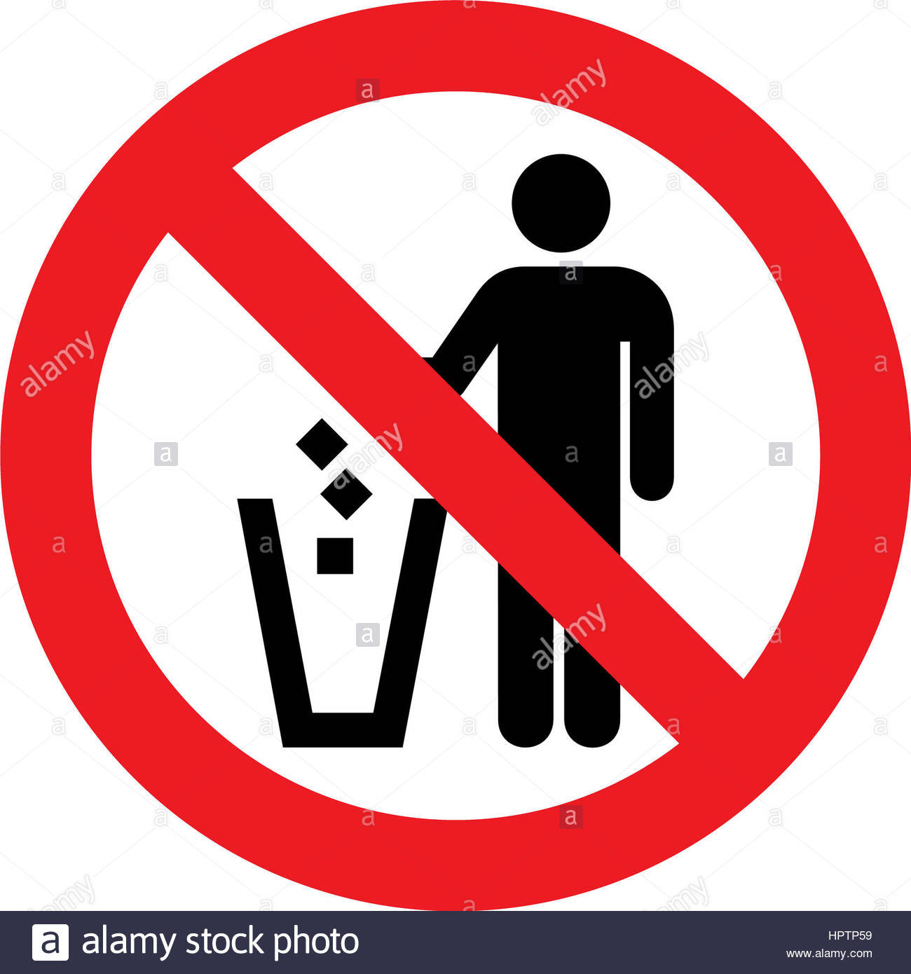 No littering sign clipart 4 » Clipart Station.