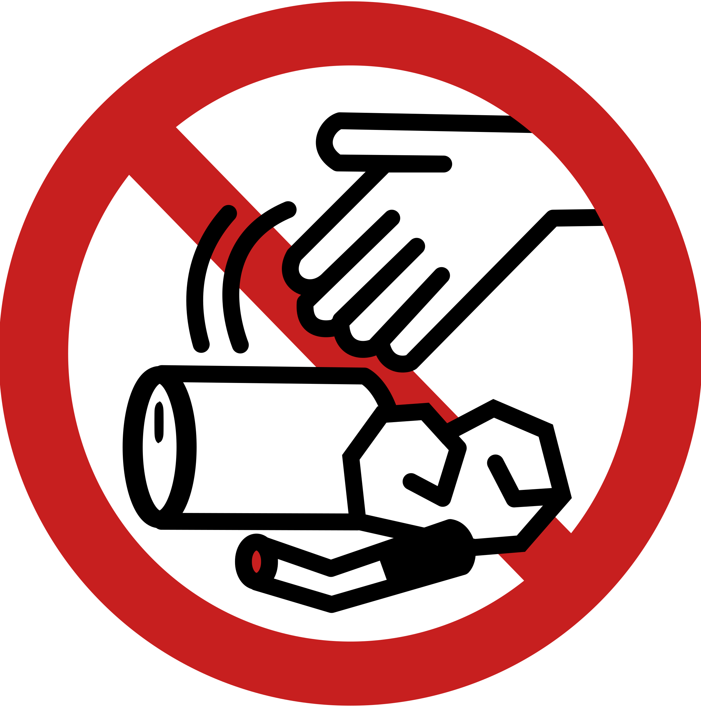 No Littering Sign Clipart.