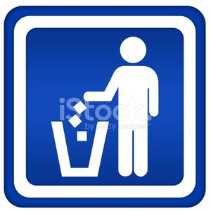 No littering sign Clipart Image.