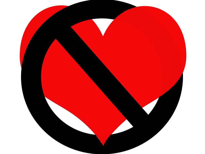 No Love Clipart.