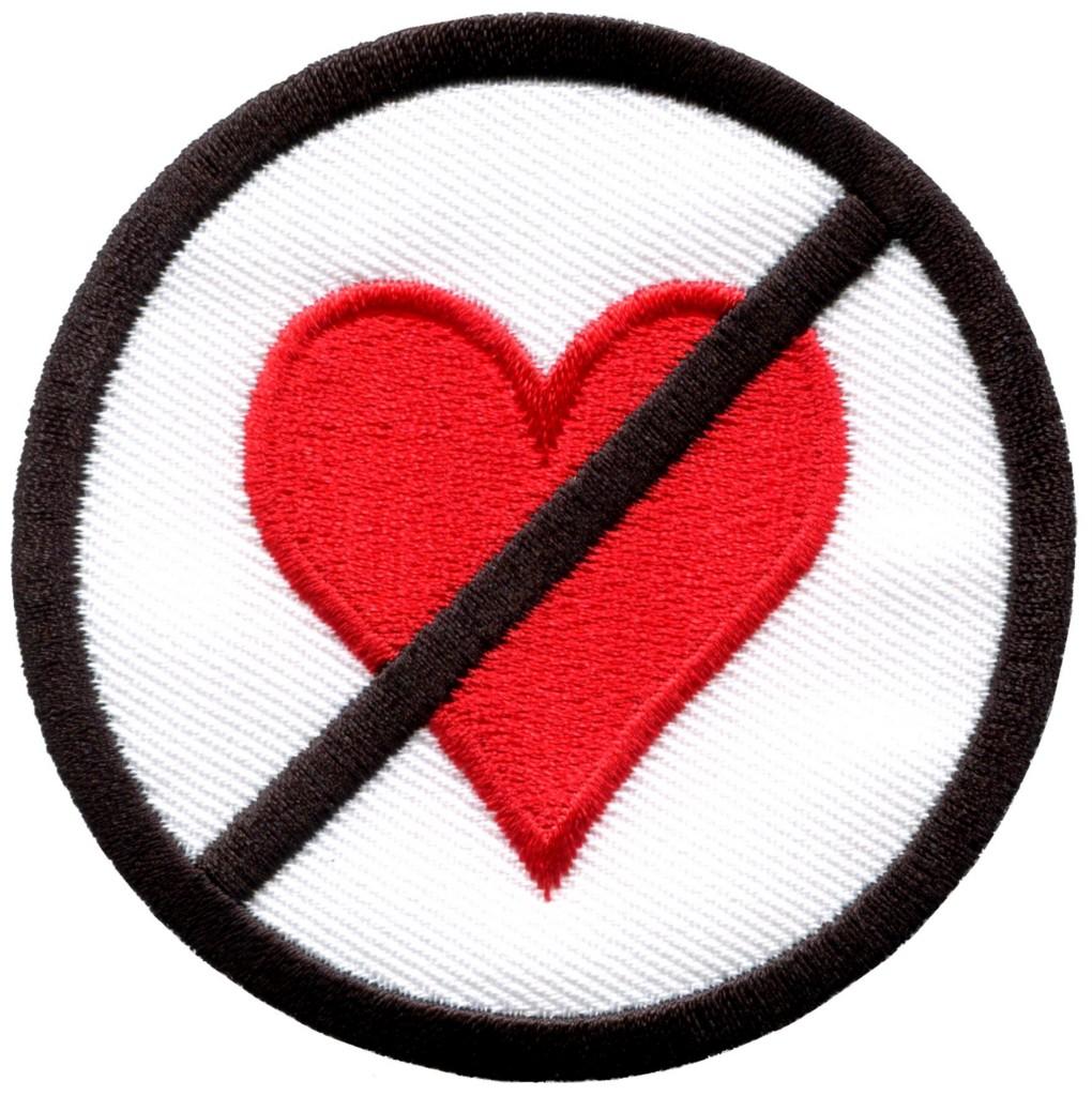 No Heart Clipart.