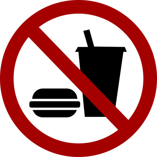 No food and drink vector sign image.