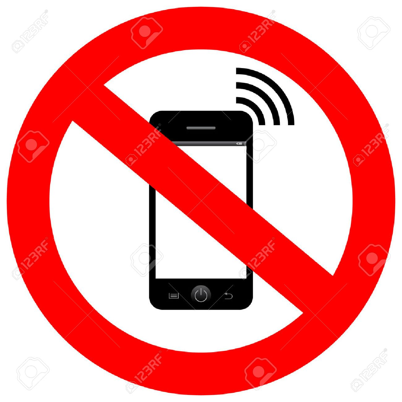 No mobile phone sign.