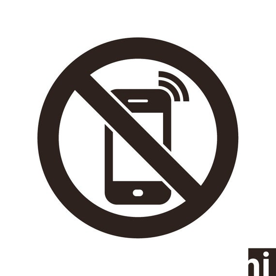 No Cell Phone Sign, No Phones Sign, No Mobile Phones Symbol, No Cell Phone  Allowed, No Mobile Phone, No Cell Phone Cut File, Sign, SVG, PNG.