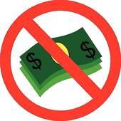 No Money Sign Clip Art.