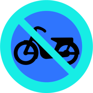 No Mopeds Sign.