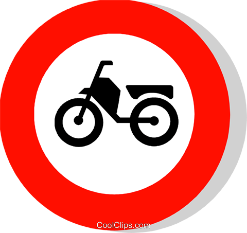 EU traffic sign, no mopeds Royalty Free Vector Clip Art.