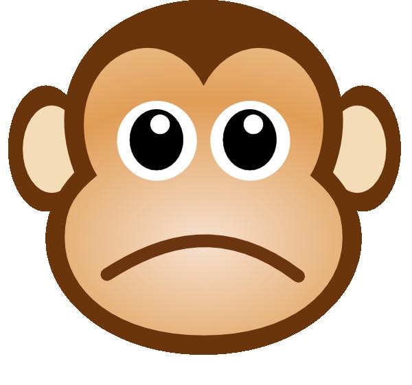 Sad Monkey Clip Art at Clker.com.
