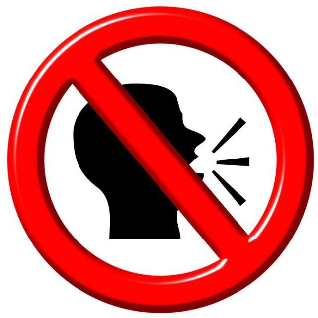 No Talking Voice Clipart.