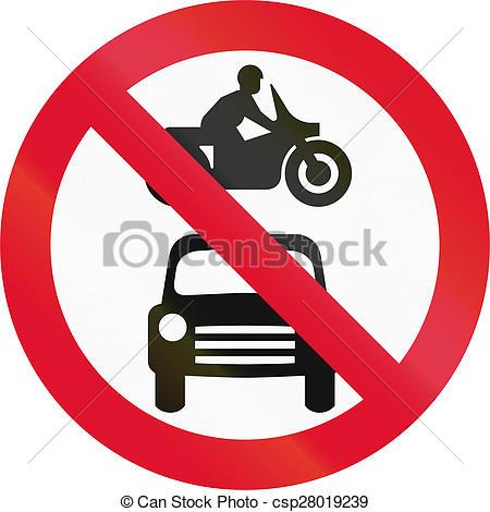 Drawings of No Motor Vehicles In Hong Kong.