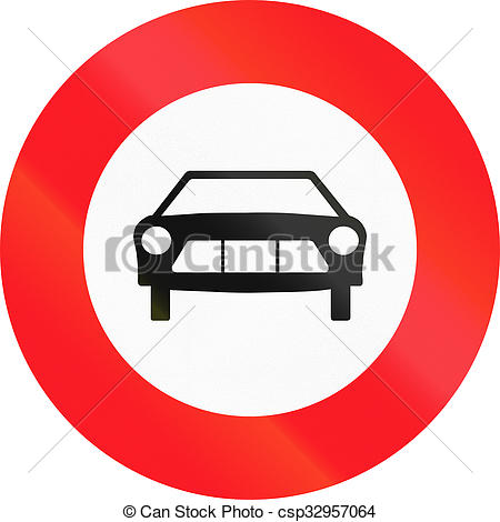 Stock Illustration of Road sign used in Switzerland.