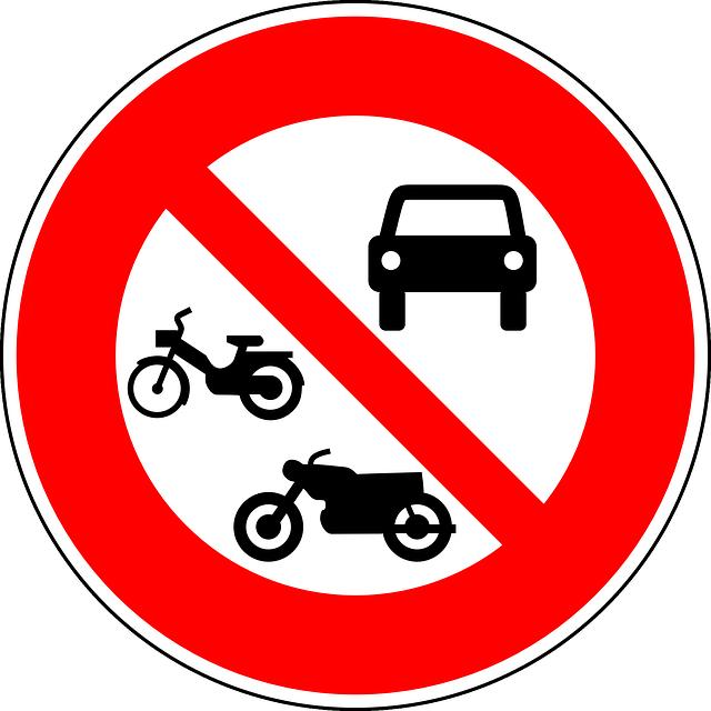 Free vector graphic: No Motor Vehicles, No Motorcycles.