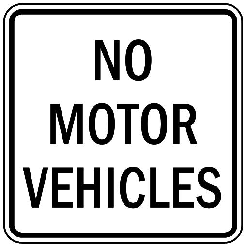 no motor vehicles.