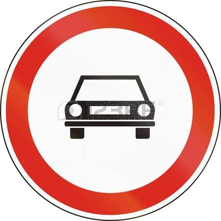No Motor Vehicles Clipart Clipground