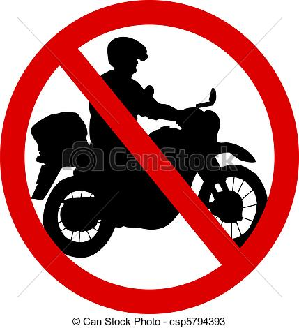 Clip Art No Motorcycles.
