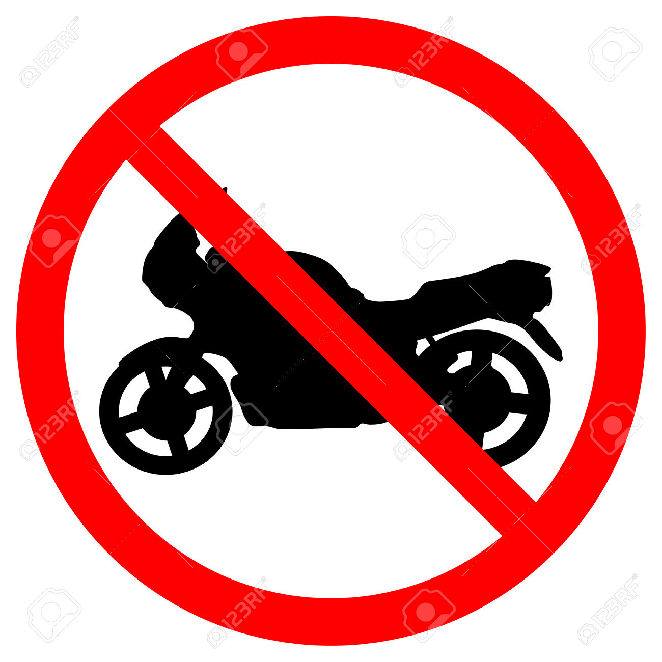 No Motorcycle Sign Royalty Free Cliparts, Vectors, And Stock.