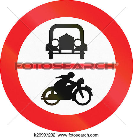 Clip Art of No Cars Or Motorcycles in Austria k26997232.