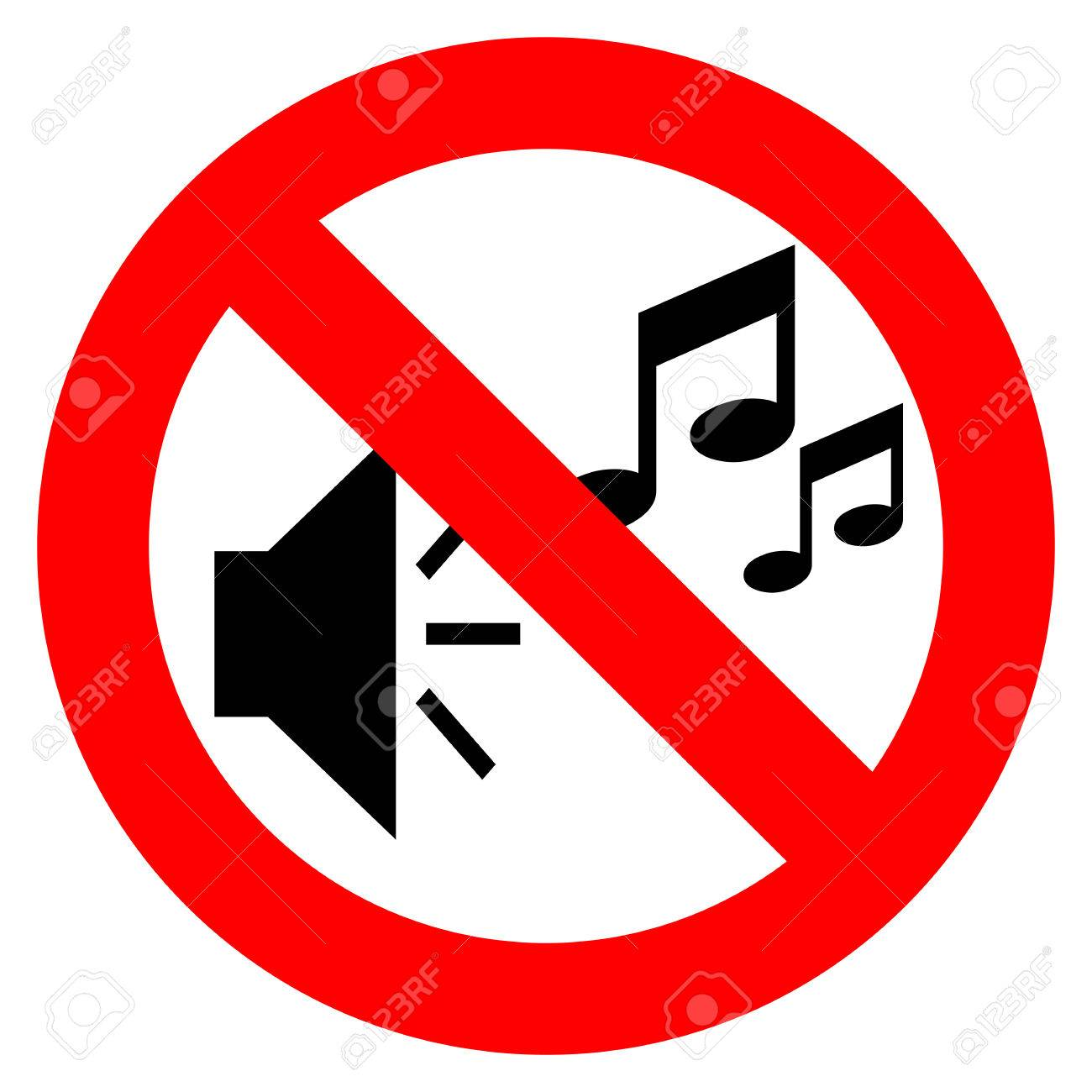 No music sign.
